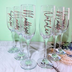 Personalised champagne Flute, gift